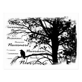 Schwarzer u. Weiß-Nevermore Silhouette-Rabe Postkarte
