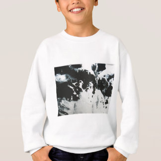 Schwarzer u. weißer abstrakter sweatshirt