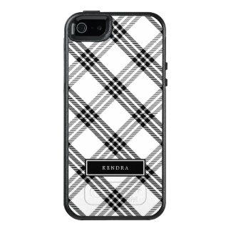 Schwarzer u. weißer Büffel-Karo OtterBox iPhone 5/5s/SE Hülle