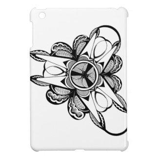 Schwarzer u. weißer Entwurf auf iPad mini glattem iPad Mini Hülle