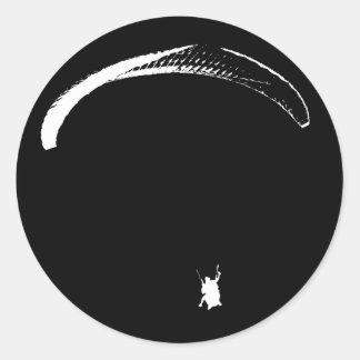 Schwarzer u. weißer Fallschirm - Aufkleber