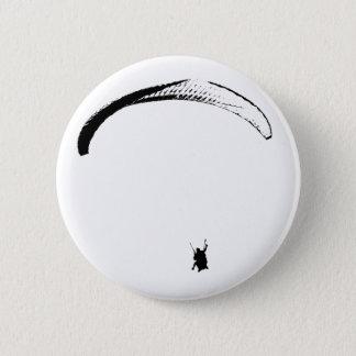 Schwarzer u. weißer Fallschirm - Knöpfe Runder Button 5,7 Cm