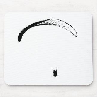 Schwarzer u. weißer Fallschirm - Mousepad