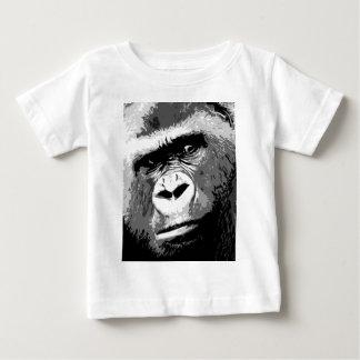 Schwarzer u. weißer Gorilla Baby T-shirt