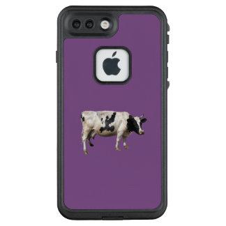Schwarzer u. weißer Kuhtelefonkasten LifeProof FRÄ' iPhone 8 Plus/7 Plus Hülle