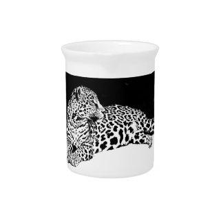 Schwarzer u. weißer Leopard Krug