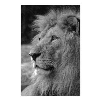 Schwarzer u. weißer Löwe - wildes Tier Briefpapier