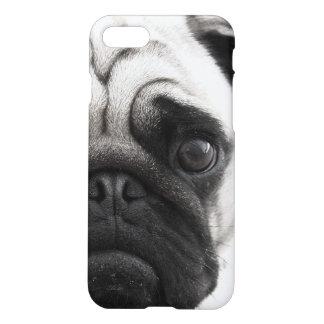 Schwarzer u. weißer Mops-Gesicht iPhone 7 Kasten iPhone 8/7 Hülle