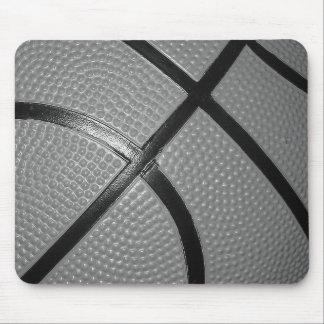 Schwarzer u. weißer Nahaufnahme-Basketball Mousepad