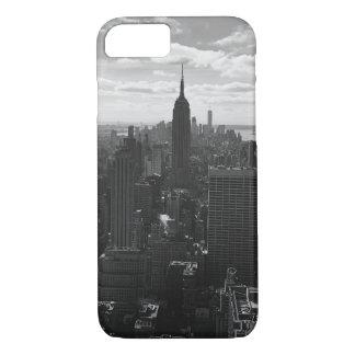 Schwarzer u. weißer New- Yorkreich-Staats-Kasten iPhone 8/7 Hülle