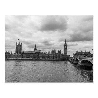 Schwarzer u. weißer Palast von Reise Westminsters Postkarte