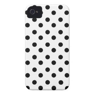 Schwarzer u. weißer Polkapunkt punktiert iPhone 4 Hülle
