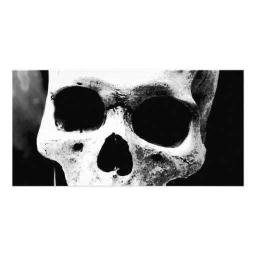 Schwarzer u. weißer Schädel Bilderkarte
