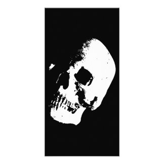 Schwarzer u. weißer Schädel Individuelle Foto Karte