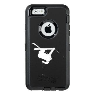 Schwarzer u. weißer Skifahrer OtterBox iPhone 6/6s Hülle