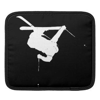 Schwarzer u. weißer Skifahrer Sleeve Für iPads