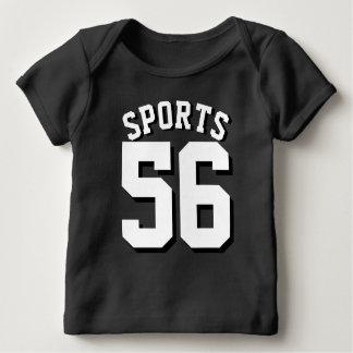 Schwarzer u. weißer Sport-Jersey-Entwurf des Baby T-Shirt