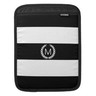 Schwarzer u. weißer Streifen mit Sleeve Für iPads