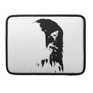 Schwarzer u. weißer Weißkopfseeadler MacBook Pro Sleeve