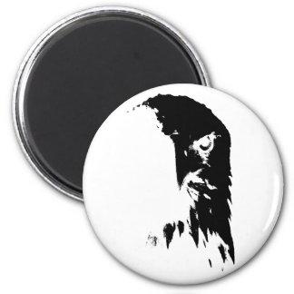 Schwarzer u. weißer Weißkopfseeadler-Magnet Runder Magnet 5,1 Cm
