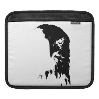 Schwarzer u. weißer Weißkopfseeadler Sleeve Für iPads