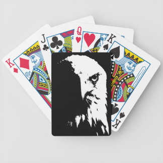 Schwarzer u. weißer Weißkopfseeadler-Spielkarten Bicycle Spielkarten