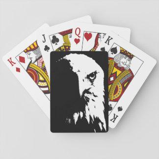 Schwarzer u. weißer Weißkopfseeadler-Spielkarten Spielkarten