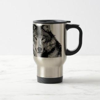Schwarzer u. weißer Wolf Kaffee Tasse