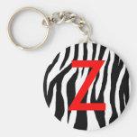 Schwarzer u. weißer Zebra-Druck Schlüsselbänder