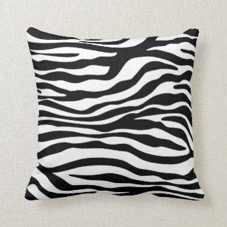 Schwarzer u. weißer Zebra-Tierdruck Zierkissen
