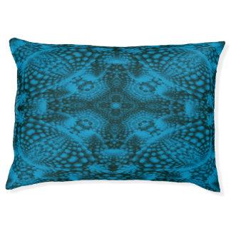 Schwarzer und blauer bunter Vintager Haustierbett