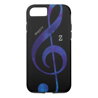 schwarzer und blauer dreifacher Clef iPhone 8/7 Hülle