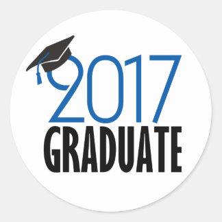 Schwarzer und des Blau-2017 graduierter Aufkleber
