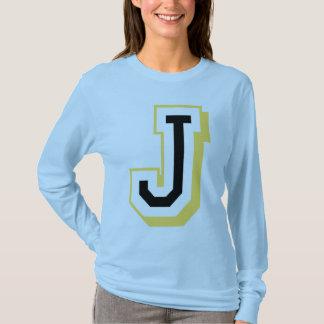 Schwarzer und gelber Buchstabe J T-Shirt