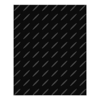 Schwarzer und grauer Hintergrund-Entwurf, dünne Ov 11,4 X 14,2 Cm Flyer