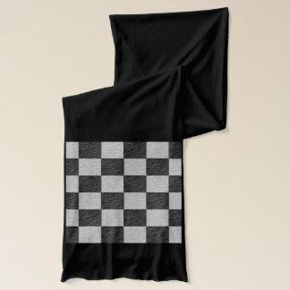 Schwarzer und grauer karierter Schal
