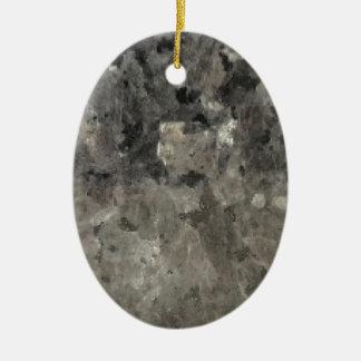 Schwarzer und grauer Marmor Keramik Ornament