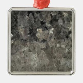 Schwarzer und grauer Marmor Silbernes Ornament