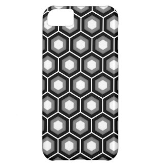 Schwarzer und grauer mit Ziegeln gedeckter iPhone 5C Hülle