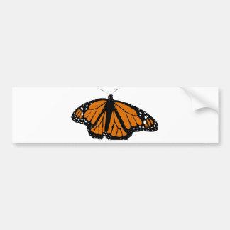 Schwarzer und orange Monarchfalter Autoaufkleber