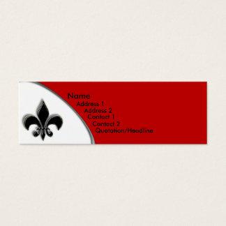Schwarzer und roter der Lilien-zwei Ton KRW Mini Visitenkarte