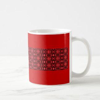 Schwarzer und roter Kaleidoskopentwurf Kaffeetasse