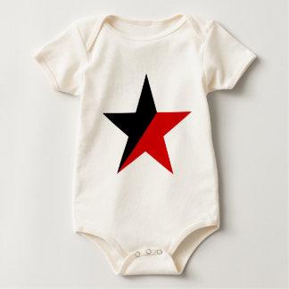 Schwarzer und roter Stern Anarcho-Syndikalismus Baby Strampler
