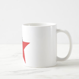 Schwarzer und roter Stern Anarcho-Syndikalismus Kaffeetasse