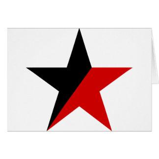 Schwarzer und roter Stern Anarcho-Syndikalismus Karte