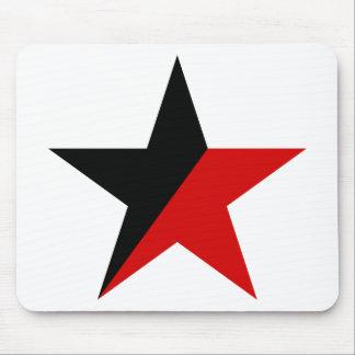 Schwarzer und roter Stern Anarcho-Syndikalismus Mauspad