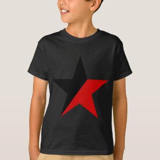Schwarzer und roter Stern Anarcho-Syndikalismus T-Shirt