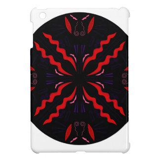 Schwarzer und roter Vintager Mandala iPad Mini Hülle