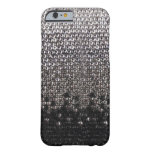Schwarzer und silberner Rhinestone-Glitter iPhone Barely There iPhone 6 Hülle