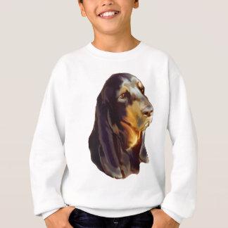 schwarzer und tan Waschbär Jagdhund Sweatshirt